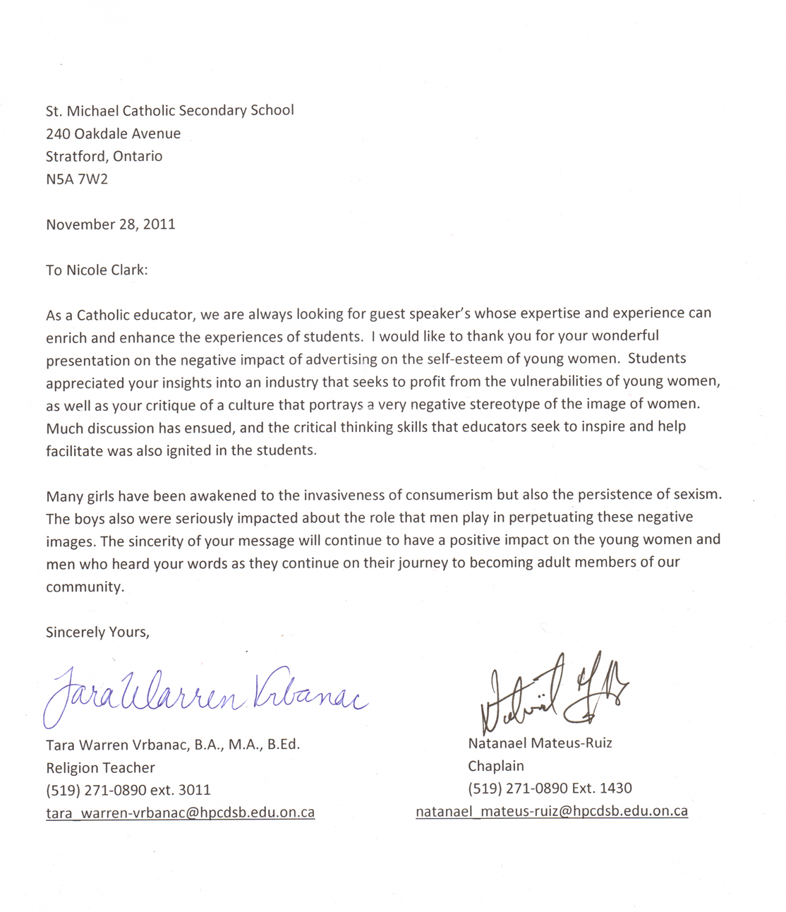 Sample Teacher Recommendation Letter Sample Letter Of Recommendation